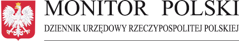 """Logo Dziennika Urzędowego Reczypospolitej Polskiej """"Monitor Polski"""""""